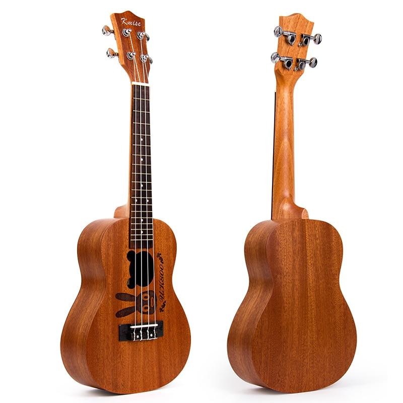 Kmise Concert Ukulele Mahogany Ukelele Uke 23 inch 4 String Acoustic Hawaii Guitar 18 Fret with Aquila String