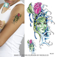 2pcs Real Temporary Tattoo Small Fresh Elements Of Men And Women Neptunian Female Pattern Waterproof Tattoo Stickers Rc2271