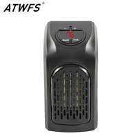 ATWFS Electric Handy Heater Portable Ceramic Space Air Heater Warm Wall Outlet Electric Radiator Home Room