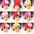 Bebé caliente muchacha de la princesa sombrero cap moda infantil lindo del bebé niñas primavera Otoño Invierno Beanie Sombreros Gorras Con Pelucas Del Pelo de Headwear Desgaste