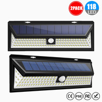 LED Solar Lights Outdoor Motion sensor Night security wall lamp 118 LED Waterproof Energy saving Garden Security Solar lamp