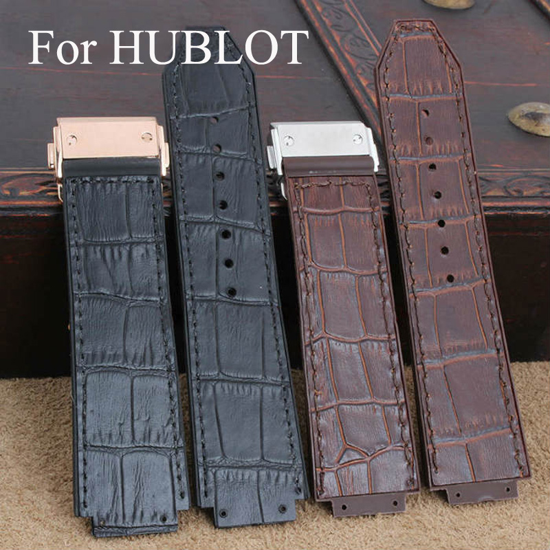 24mm*22mm Natural Rubber Watch Strap Wrist Belt ,Watchband With Deployment Watchband Buckle For HUBLO TWatch,With LOGO цена