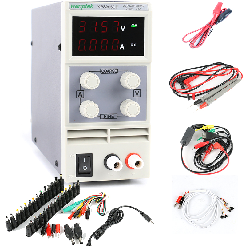 KPS-305DF KPS-305D Adjustable LED Display Switching DC power supply 110V 220V 30V 5A For Laboratory Teaching Phone Maintenance laboratory power supply korad kd3005d 30v 5a 0 01v 0 001a linear dc power supply for laptop phone maintenance