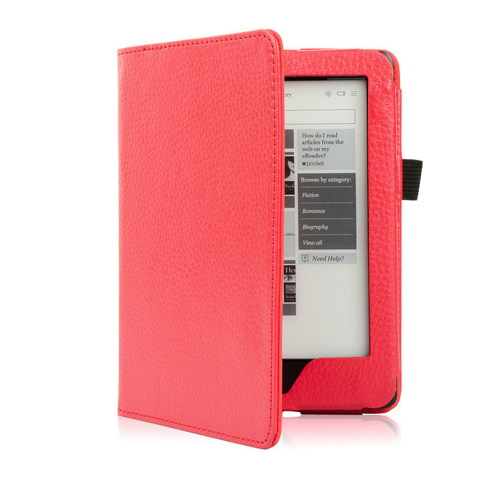 купить 6'' Kobo Glo HD Protective Case ,Magnetic Leather Smart Case Shell and Cover for Kobo Glo HD (2015) e-books with Auto Wake Sleep по цене 535.08 рублей