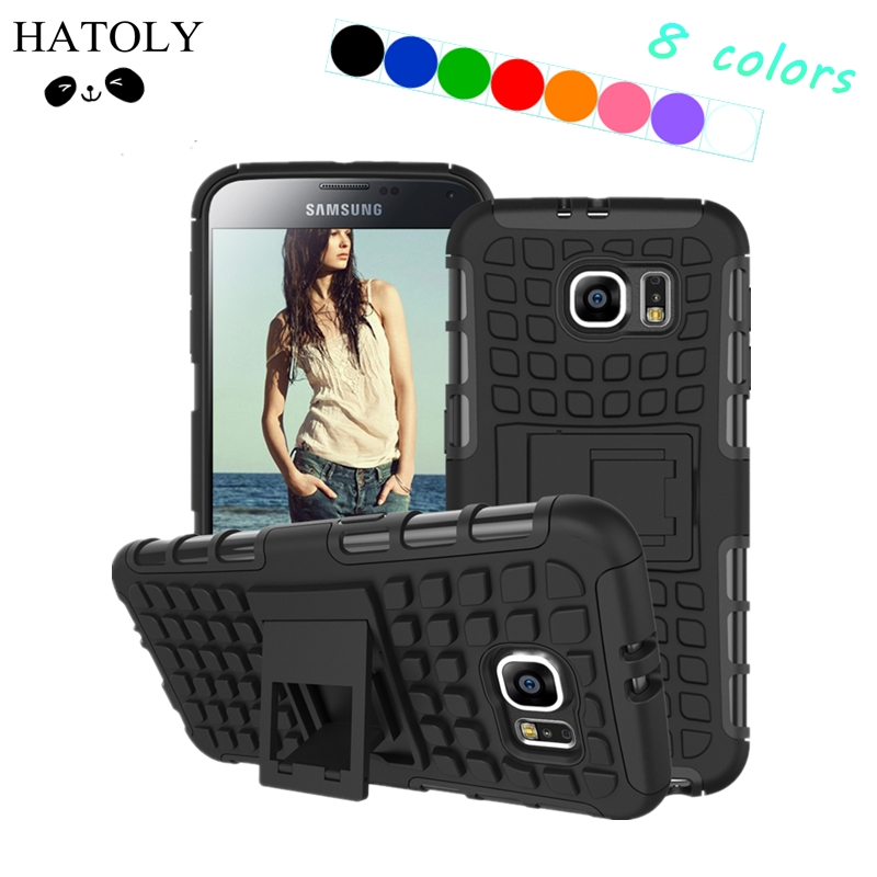 Coque For Samsung Galaxy S6 Case G9200 Heavy Duty Armor Fundas Kickstand Hybird Hard Soft Rugged Rubber Case S6 Cover Capa