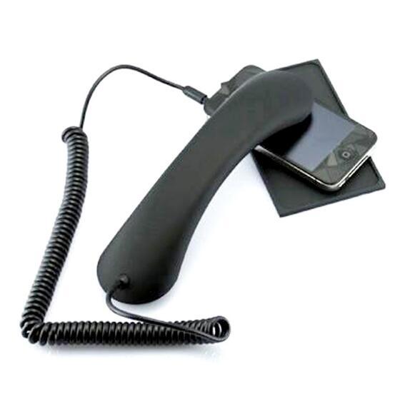 Black Retro Phone handset headset 3.5mm PC Comtuper microphone prevention radiation for iphone samsung