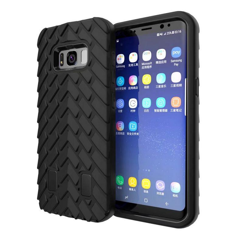 Для Samsung Galaxy S8 силиконовой PC + TPU Гибридный противоударный чехол покрышки Гибридный Робот резиновый чехол для Galaxy S8 плюс