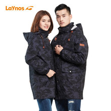 Free Shipping-NEW Laynos Women Autumn/Winter Outdoor Mountaineering 3in1 Camouflage Mid-long Slim Fleece Lovers Jackets 170A513B(China)