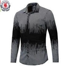 Fredd Marshall 2019 Neue Mode Gedruckt Hemd Männer Langarm Geometrische Shirts Männer Casual Kleid Shirt Herren Marke Kleidung 176