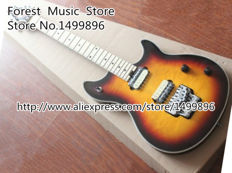 EVH Wolfgang Vintage Sunburst Quilted Guitar Body China OEM Electric Guitars left Handed Custom Available