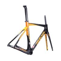OG-EVKIN DI2 Mechanical Bicycle Frameset 49 52 54 56cm Light Carbon Road Bike Frame Carbon Road Frame 2018 Race Bike 3K Glossy 2