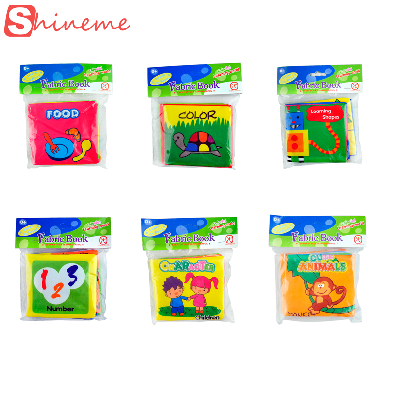 aliexpresscom buy 6pcs comic english school baby cloth book learning toy for children kids mini cartoon coloring soft fabic book cloth toddler from - Color Book For Toddler