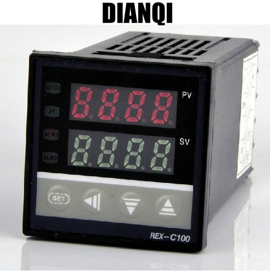 Dual Digital RKC PID Temperature Controller REX-C100  Relay Output SSR device set of pid digital temperature thermostat regulator controller rex c100 with ssr output thermocouple k solid state relay ssr 40a