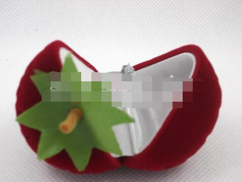 100pcs/lot fedex fast free shipping strawberry jewelry box ring necklace ring velvet red box jewelry display