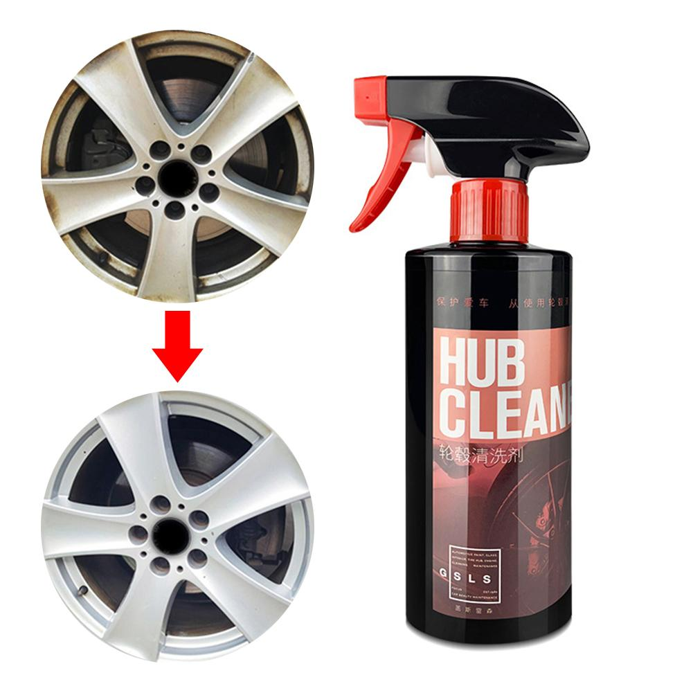 500ML Wheel Cleaner Cleaning Car Steel Ring Stainless Steel Wheel Washing Car Tire Rim Cleaning Tool For Car Truck Motorcycle