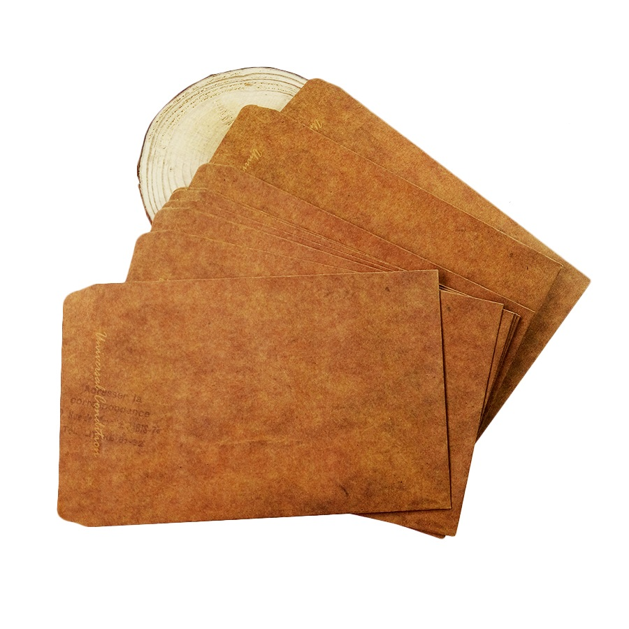 10pcs/lot  160*110mm New Vintage Kraft Paper Envelopes Antique Kraft Gift Envelope