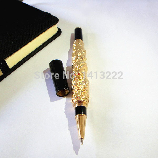 Dragon golden color metal pen great quality 80g/pc sign pen special gift for boss  TOP popular selling unique christmas gifts