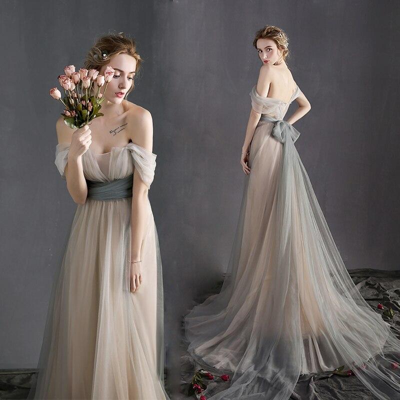 Off the shoulder victorian vintage wedding dresses long for Long vintage wedding dresses