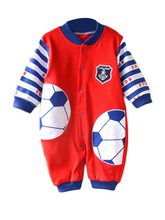 Recreational Sports Cotton Open Buckle Romper Baby Jumpsuit
