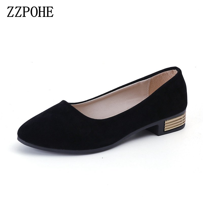 ZZPOHE Spring Autumn New Women Shoes Fashion Casual Slip On Pointed Toe Woman Flats Shoes Female Comfort Work Office shoes baiclothing women casual pointed toe flat shoes lady cool spring pu leather flats female white office shoes sapatos femininos