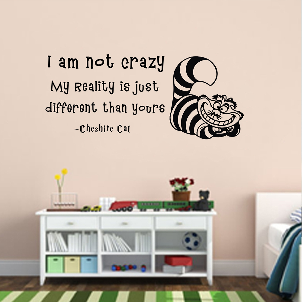 Alice In Wonderland Wall Art alice in wonderland wall stickers - home design ideas