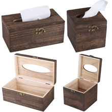 Paper Rack Wood Storage Tissue Box Car Home Rectangle Shaped Container Towel Napkin Dispenser Organizer Holder