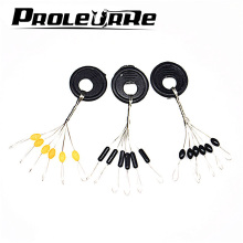 10 Sets 60PCS Fishing Space Beans Swivels Clip Connectors Fish Float Stopper Bean Cylindrical and Olive