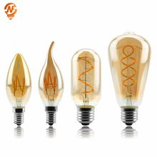 купить Vintage Edison Bulb E27 E14 220V Retro Lamp 4W Ampoule Vintage Light Bulb Edison Lamp Led Filament Light Edison Bulb по цене 130.26 рублей
