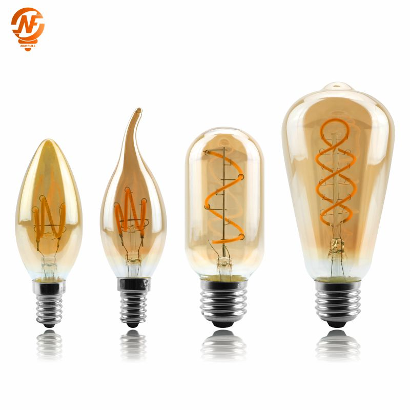 Vintage Edison <font><b>Bulb</b></font> E27 <font><b>E14</b></font> 220V Retro Lamp 4W Ampoule Vintage Light <font><b>Bulb</b></font> Edison Lamp <font><b>Led</b></font> Filament Light Edison <font><b>Bulb</b></font> image