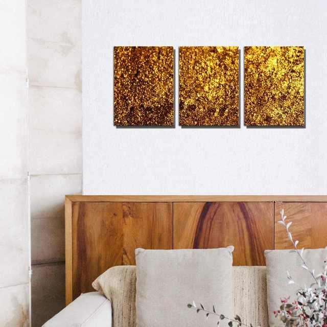Goldene Glitzernde Gold Bild Druck Auf Leinwand Malerei Mode Modernen Haus Dekoration Poster Fur Wohnzimmer Wand Kunst Grosshandel
