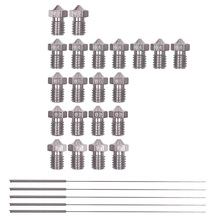 26 Pieces Stainless Steel 3D Printer Nozzles 0.2 Mm, 0.4 0.6 0.8 1.0 Mm Extruder Nozzle Print Head For E3D Makerbo