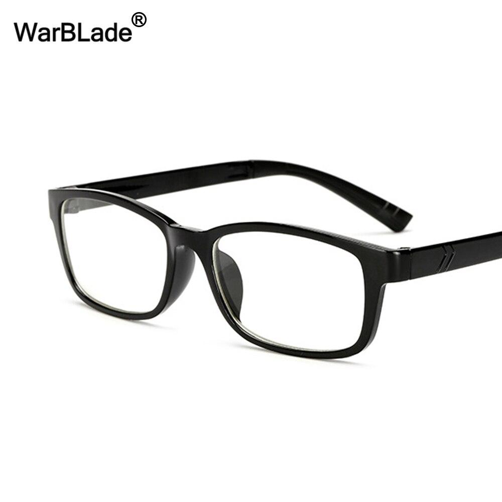 a0b2ccc70f6 WarBLade New Eyeglasses Men Women Square Brand Designer Eye Glasses Frames  Clear Optical Myopia computer Eyewear oculos de grau-in Eyewear Frames from  ...