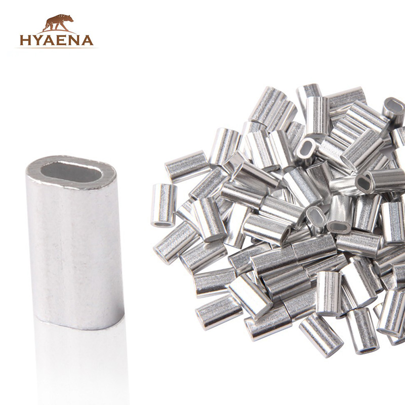 Hyaena 150pcs White Oval Aluminum Fishing Tube/Fishing Wire Pipe/Crimp Sleeves Connector/Fishing Line Accessories