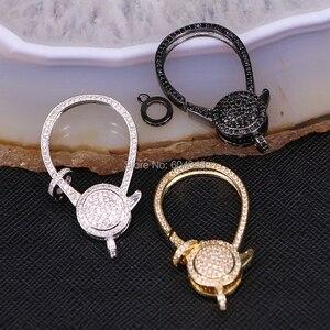 Image 2 - 5 قطعة ZYZ180 9250 مشبك قفل كبير لصنع المجوهرات ، بندقية الأسود والذهب والفضة اللون معدن المشبك ، تمهيد تشيكوسلوفاكيا المشابك في 23*39 ملليمتر