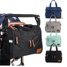 Moda bebé pañal bolsa de gran capacidad de maternidad de Enfermería de viaje, bolsa de bebé bolsas mamá vagabundos bolsos cuidado del bebé