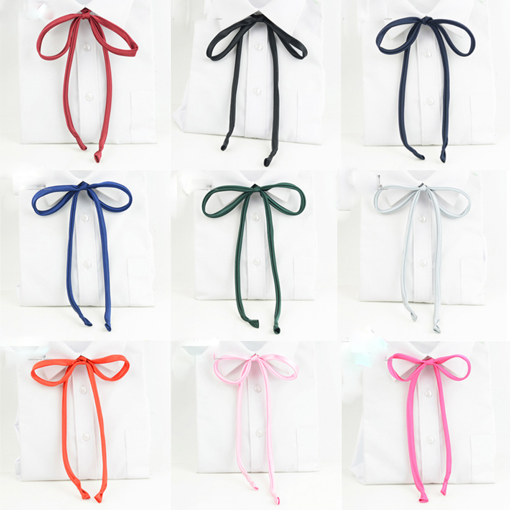 Womens Girl Solid Satin Selftied School Student Bowtie Elegant Ribbon Tie  Bwtyy0057(china Knot Instructions