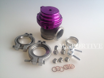 Wastegate MVS 38mm Wastegate Purple With V-Band and Flanges All Springs