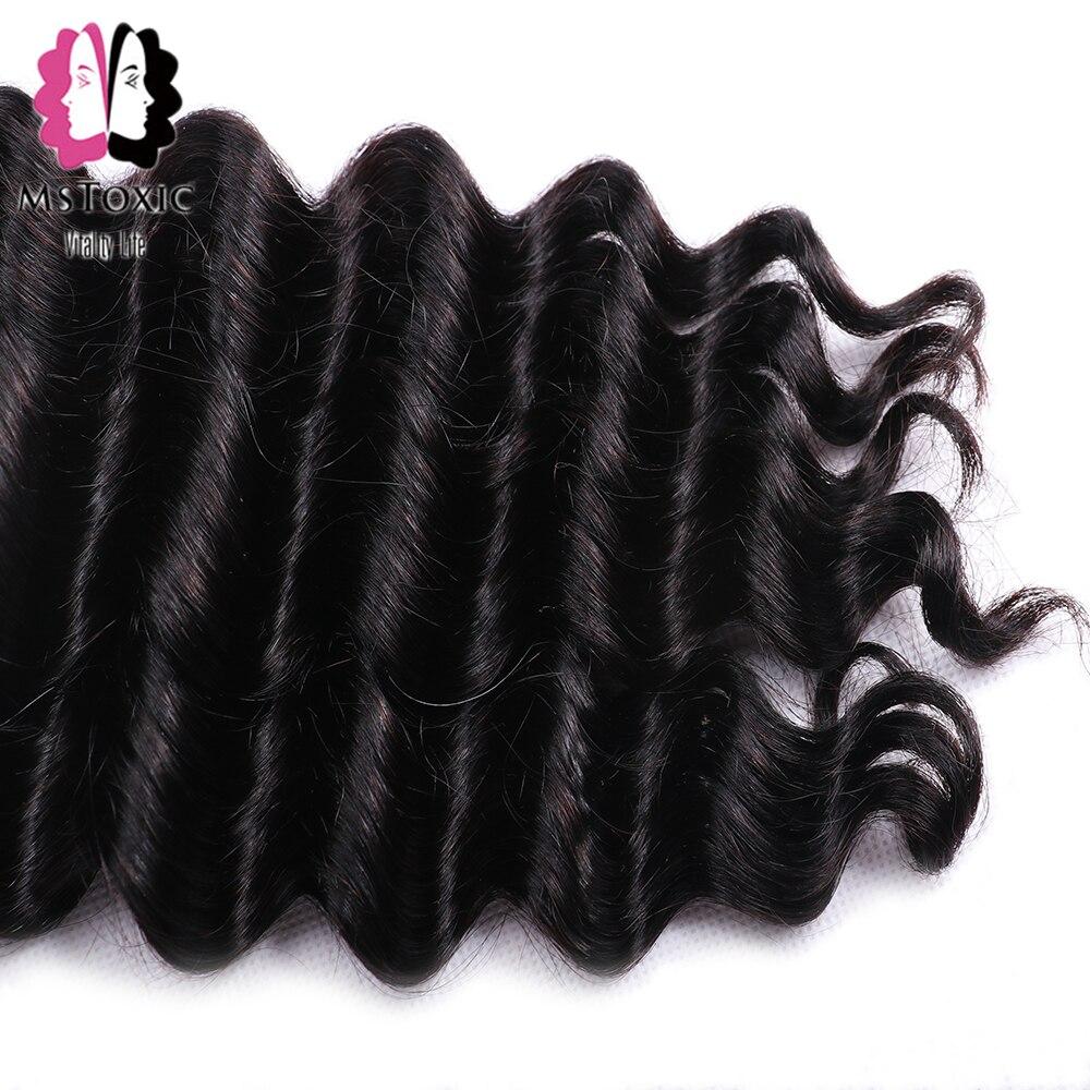 MsToxic Loose Deep Wave Bundles With Closure Brazilian Hair Weave Bundles With Closure Remy Human Hair Bundles With Closure