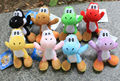"New! Super Mario Figures Yoshi Plush Toys 8pcs/set, Mario Plush 4.5""  Retail / Wholesale,  Free Shipping"