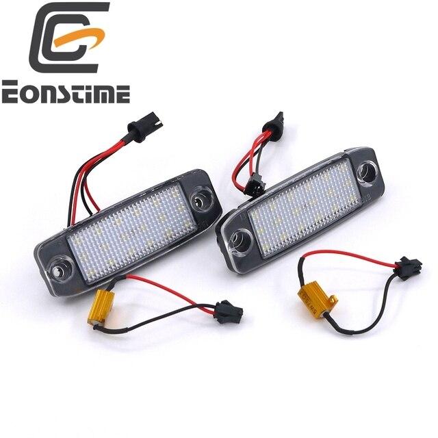 Eonstime 2 Pcs LED Luzes Da Placa De Licença Do Carro 12 V SMD Número LED