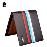 2016 Designer Luxury Pu Leather Wallet Men Wallets Brand Black And Brown Striped Russia Money Clip