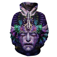Couples Women Graphic Print Hoodie Sweater Sweatshirt Jacket Pullover Top 3D Head