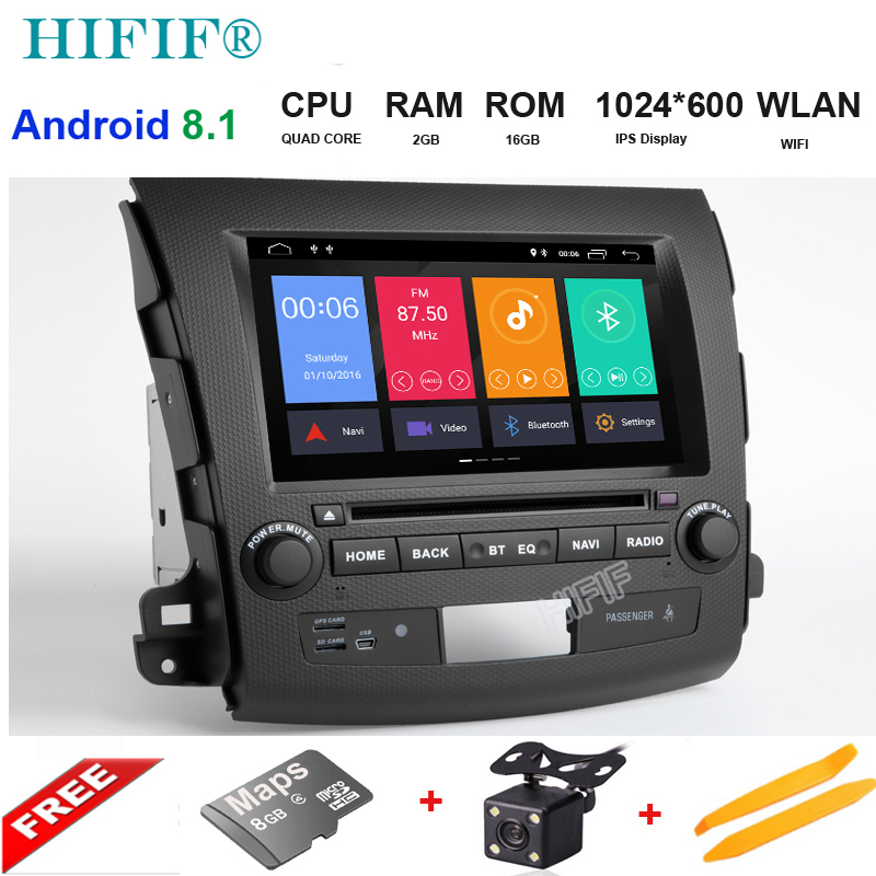 Android 8 1 Car DVD Player GPS for Mitsubishi Outlander 2007 2012 with wifi BT Stereo