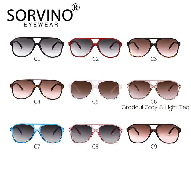 0de97ff62e96 ... SORVINO Vintage Designer Pilot Men Sunglasses Women 2018 High Quality  90s Crystal Oversized Square Sun Glasses