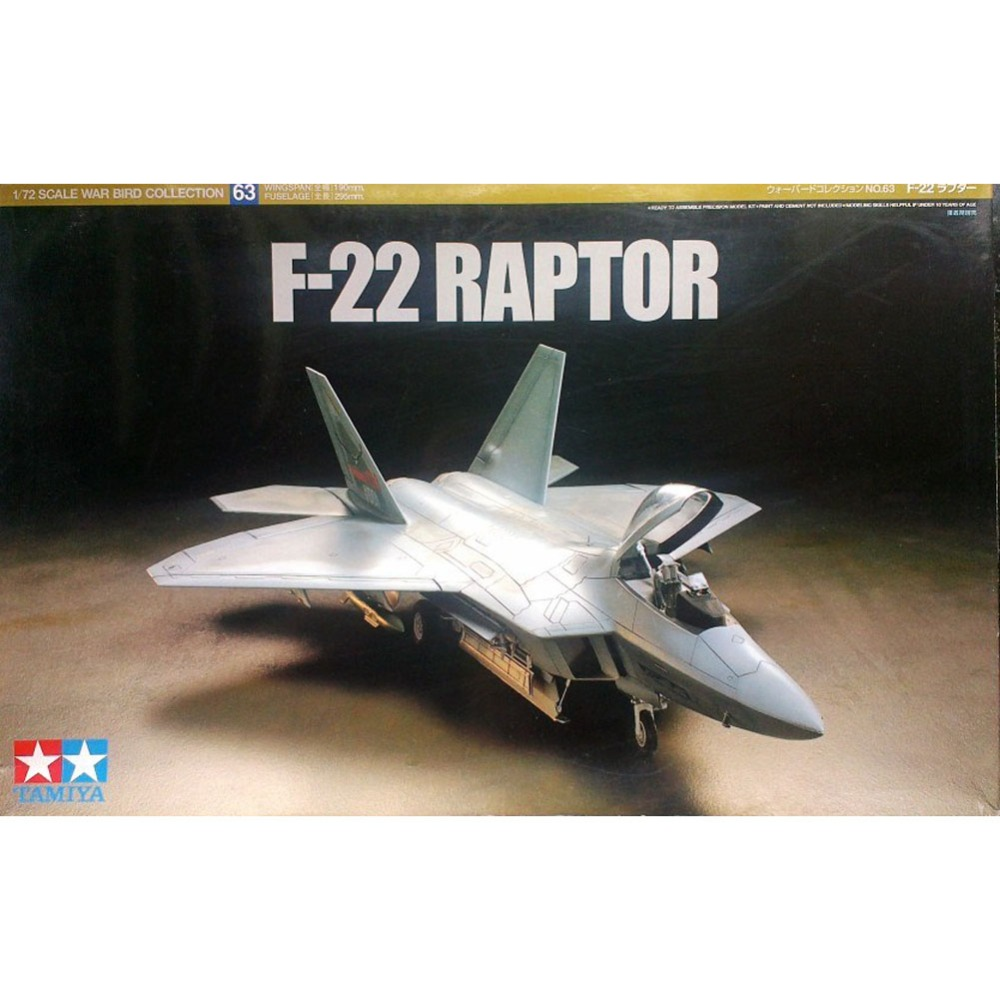 где купить OHS Tamiya 60763 1/72 F22 Raptor Assembly Airforce Model Building Kits oh дешево