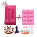 Cake Design Sexy Penis Silicone Mold Ice Cube Tray Silicone Chocolate Jelly Birthday Cake Mold Creative Baking Moulds