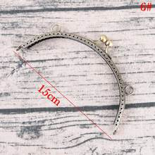 2019 DIY 20cm Antique Brass Metal Purse Frame Ring Kiss Clasp Handle For Bag Craft Bag Making Sew Handbag Accessories HOT !(China)