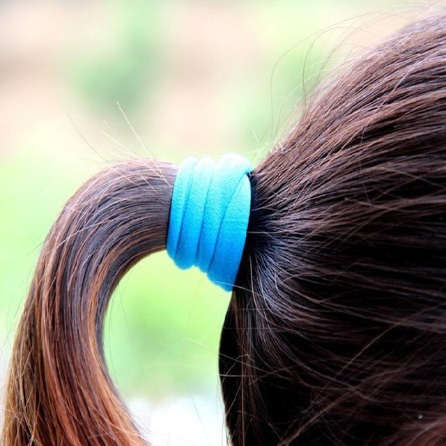 50Pcs Hair Ornaments Mix Colors Rubber Scrunchie Elastic Hair Bands/Ties/Rope Headwear Gum Hairband Headband Ponytail Holders