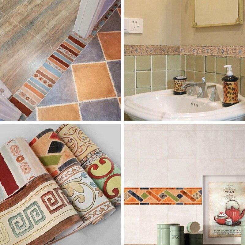 Nordic bohemian line sticker room bedroom wallpaper wall nordic simulation kitchen oilproof bathroom waterproof