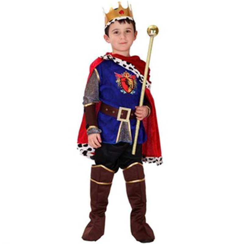 Children's Clothing Halloween King Game Dress Up Prince Charming Costume COSPLAY Arabization Ancient-Costume Cape Sets L544 christmas cosplay costume lace up velvet cami dress